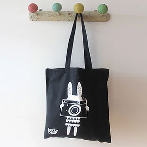 Camera Rabbit Shopping Bag - bags