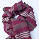 Plum And Grey Handwoven Scarf