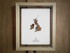 Personalised Destination Papercut