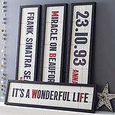 Personalised Cinema Marquee Print - christmas decorations