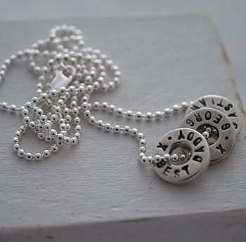 Personalised Silver Washer Necklace