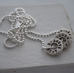 Personalised Silver Washer Necklace - necklaces