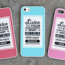 Personalised iPhone Case Listen To Your Heart