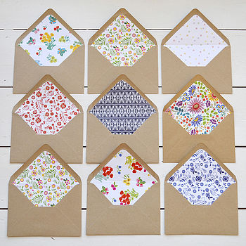 Diy Patterned Envelope Liners