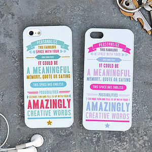 Personalised Quote iPhone Case - bags & purses