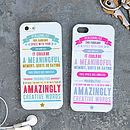 Personalised Quote iPhone Case