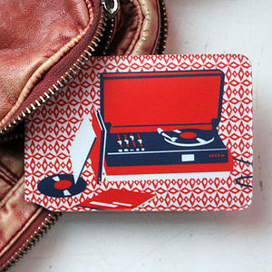 Record Player Travel Card Holder