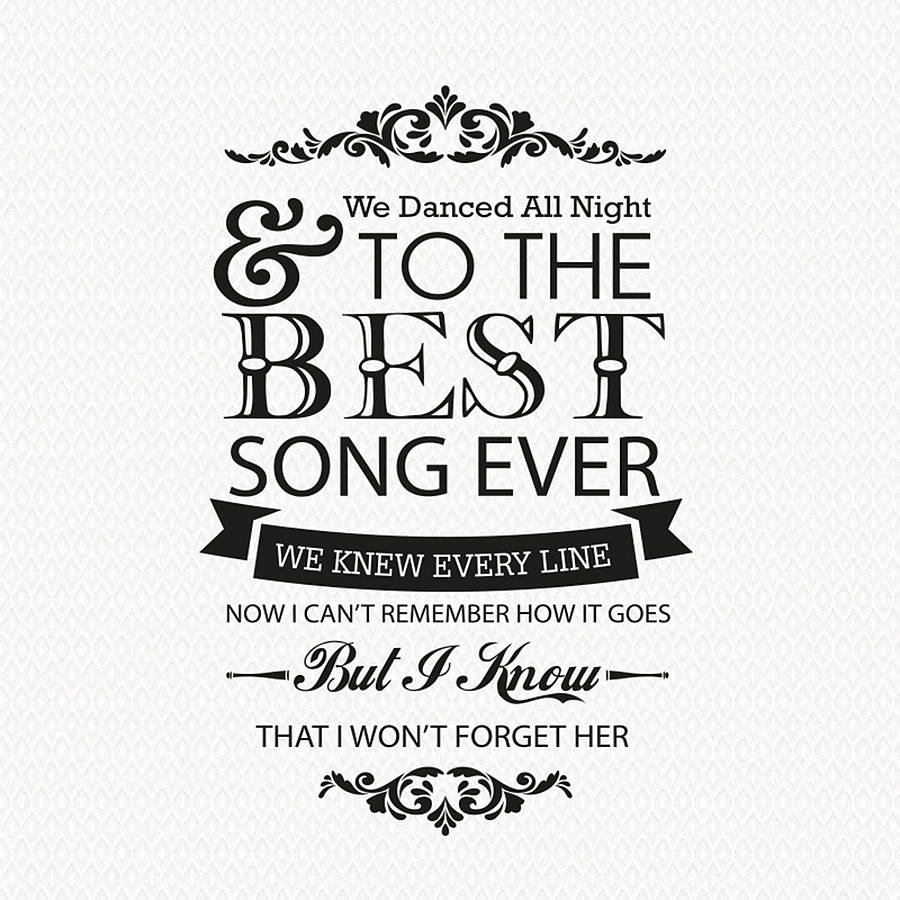 homepage > WALL ART > ONE DIRECTION 'BEST SONG EVER' WALL STICKER