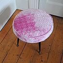 1950's Pink Velvet Stool