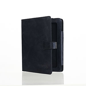 Black Leather iPad Cover With Stand - men's accessories