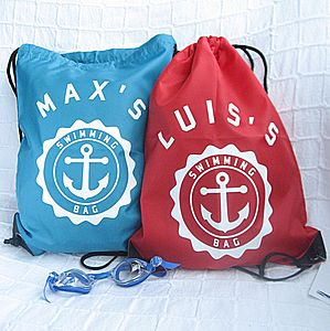 Personalised Waterproof Swimming Bag - personalised