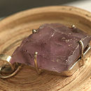 Rough Organic Amethyst Silver Necklace