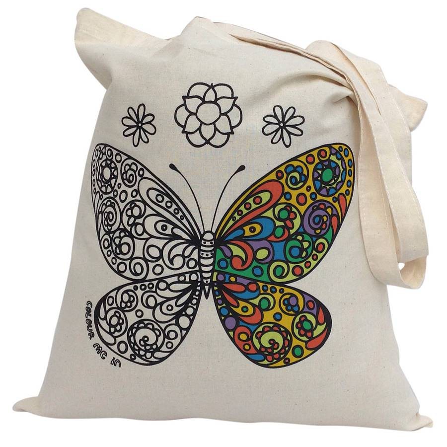Colour In Butterfly Tote Bag
