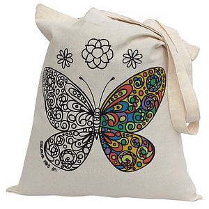 Colour In Butterfly Tote Bag - baby & child