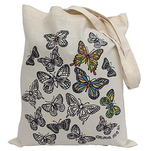 Colour In Butterflies Tote Bag - girls' bags & purses