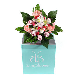 New Mum And Baby Girl Clothing Gift Bouquet - baby care