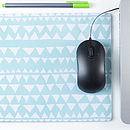 Personalised Triangle Mouse Mat Rectangle