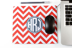Personalised Rectangle Mouse Mat Chevron
