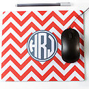 Personalised Chevron Mouse Mat Rectangle