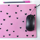 Personalised Cat Mouse Mat Rectangle