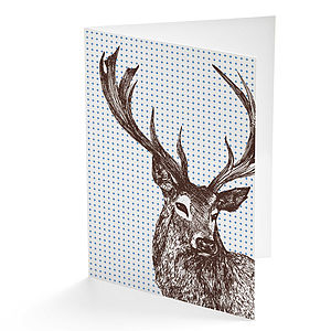 Stag Greetings Card - cards