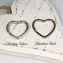 Personalised Silver Heart Charms Key Ring