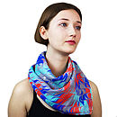 Brooklyn Hand Marbled Silk Scarf