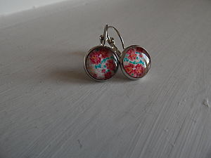 Cabochon Glass Earrings