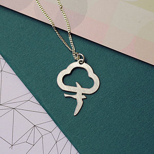 Flo: Cloud and Bird necklace