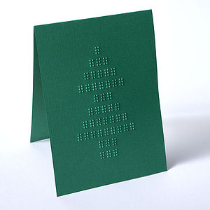 Braille Christmas Tree Card