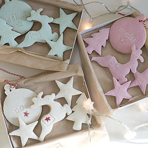 Personalised Christmas Cookie Gift Set - biscuits and cookies