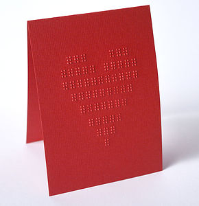 Braille Heart Greeting Card