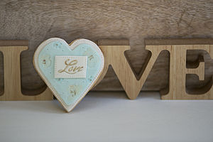 Blue Valentine's Loveheart Cookie - wedding favours