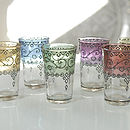 Henna Moroccan Mint Tea Glasses, Set Of Six