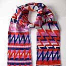 'Lightening Strikes' Zig Zag Design Scarf