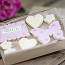 Box Of Mum Gift Cookies Pink