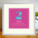 Personalised Birthday/Age Alphabet Print