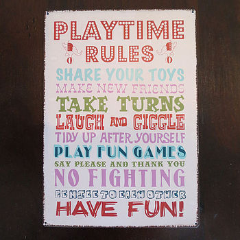 Vintage Playtime Rules