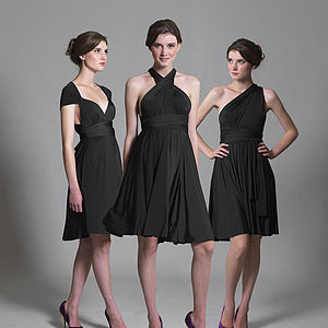 Multi Way Knee Length Dress - bridesmaid fashion