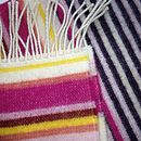 Pink Candy Stripe Lambswool Scarf