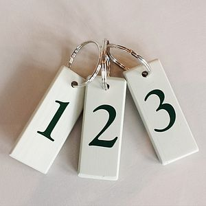 Set Of Three Numbered Keyrings