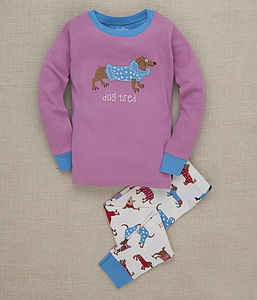 'Dog Tired' Girls Pyjamas - clothing