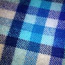 Turquoise Checked Lambswool Scarf