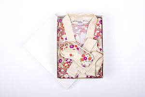 Japanese Kimono Gown And Eye Mask Gift Set - sleepwear edit