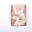 Japanese Kimono Gown And Eye Mask Gift Set