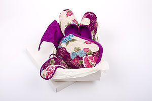 Japanese Kimono Travel Gift Set Botan - lingerie sets