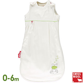 Wool Filled Baby Sleeping Bag, Frog