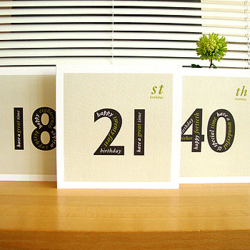 18th, 21st and 40th birthday cards
