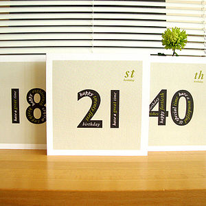 Personalised Landmark Birthday Card