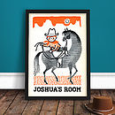 Personalised Retro Cowboy Print